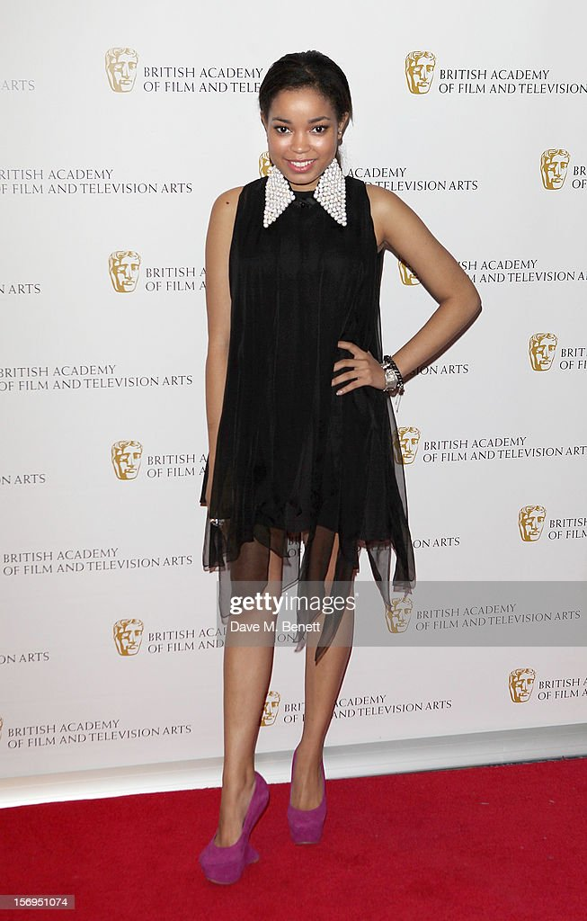 Dionne Bromfield arrives at the British Academy Children's Awards at the London Hilton on November 25, 2012 in London, England.