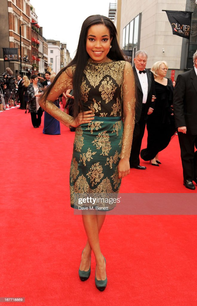 Dionne Bromfield arrives at The Laurence Olivier Awards 2013 at The Royal Opera House on April 28, 2013 in London, England.