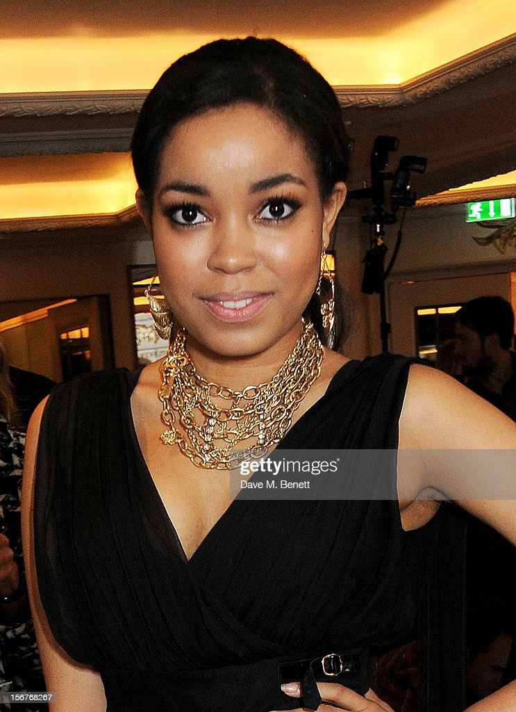 Dionne Bromfield attend a drinks reception at the Amy Winehouse Foundation Ball held at The Dorchester on November 20, 2012 in London, England.