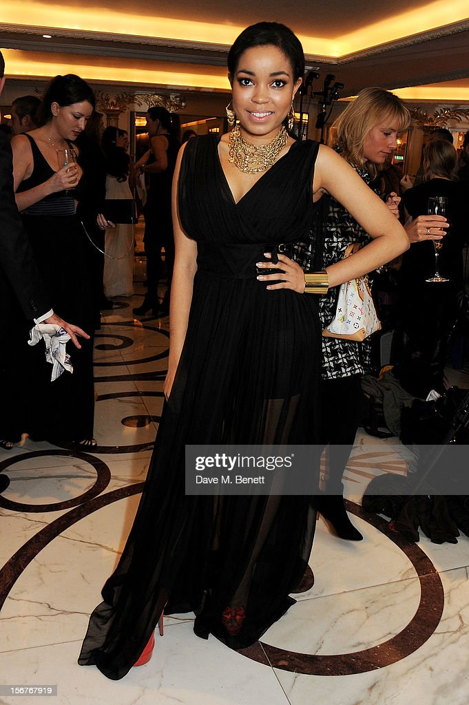 Dionne Bromfield attends a drinks reception at the Amy Winehouse Foundation Ball held at The Dorchester on November 20, 2012 in London, England.