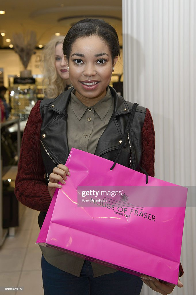 Dionne Bromfield attends the American Express Shop West end VIP Day on November 24, 2012 in London, England.