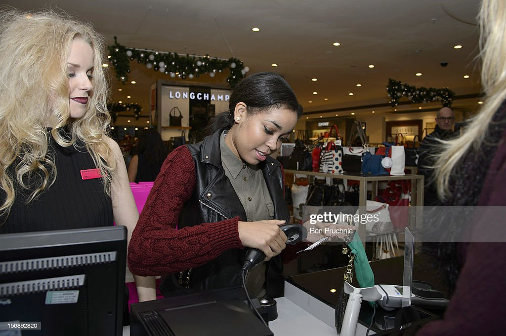 <a gi-track='captionPersonalityLinkClicked' href=/galleries/search?phrase=Dionne+Bromfield&family=editorial&specificpeople=6400392 ng-click='$event.stopPropagation()'>Dionne Bromfield</a> attends the American Express Shop West end VIP Day on November 24, 2012 in London, England.