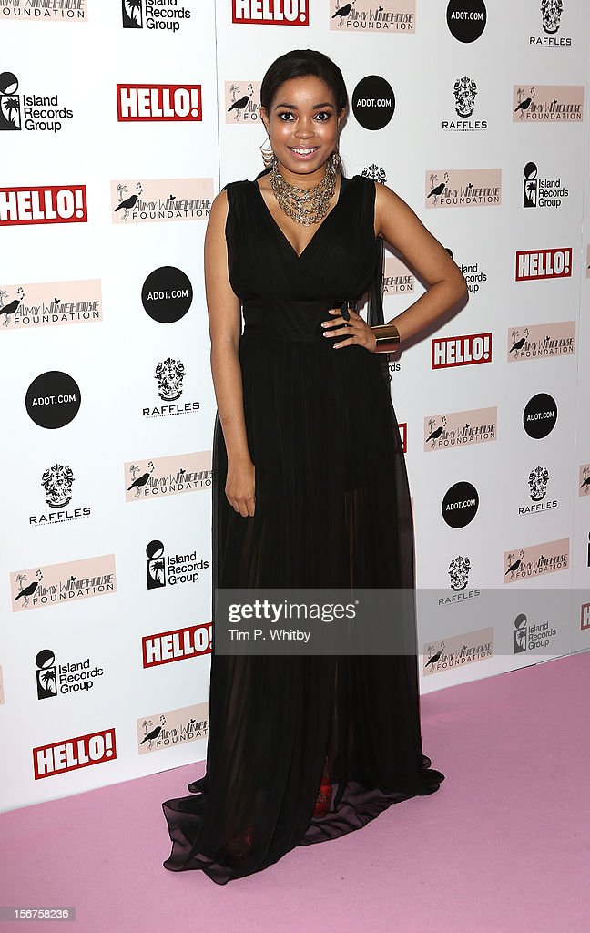 Dionne Bromfield attends The Amy Winehouse Foundation Ball at The Dorchester Hotel on November 20, 2012 in London, England.