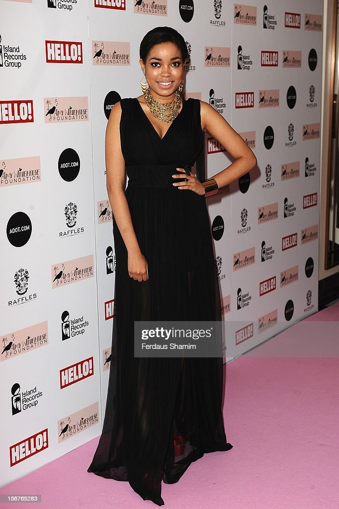 Dionne Bromfield attends The Amy Winehouse Foundation Ball on November 20, 2012 in London, England.