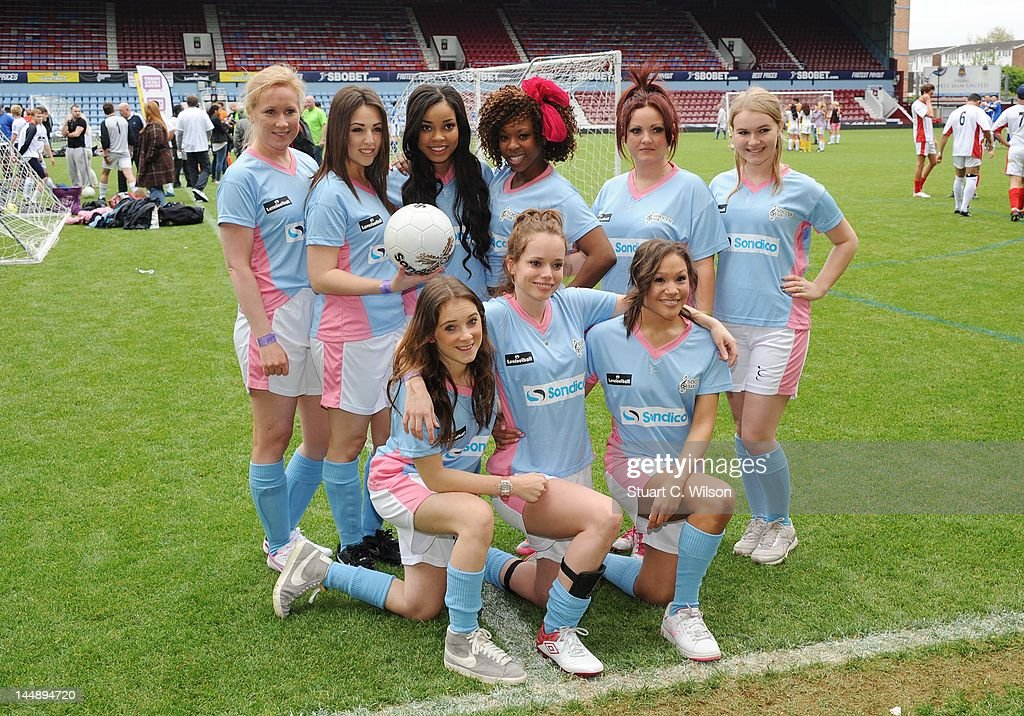 <a gi-track='captionPersonalityLinkClicked' href=/galleries/search?phrase=Dionne+Bromfield&family=editorial&specificpeople=6400392 ng-click='$event.stopPropagation()'>Dionne Bromfield</a> attends the Celebrity Soccer Six 2012 Tournament at Upton Park on May 20, 2012 in London, England.