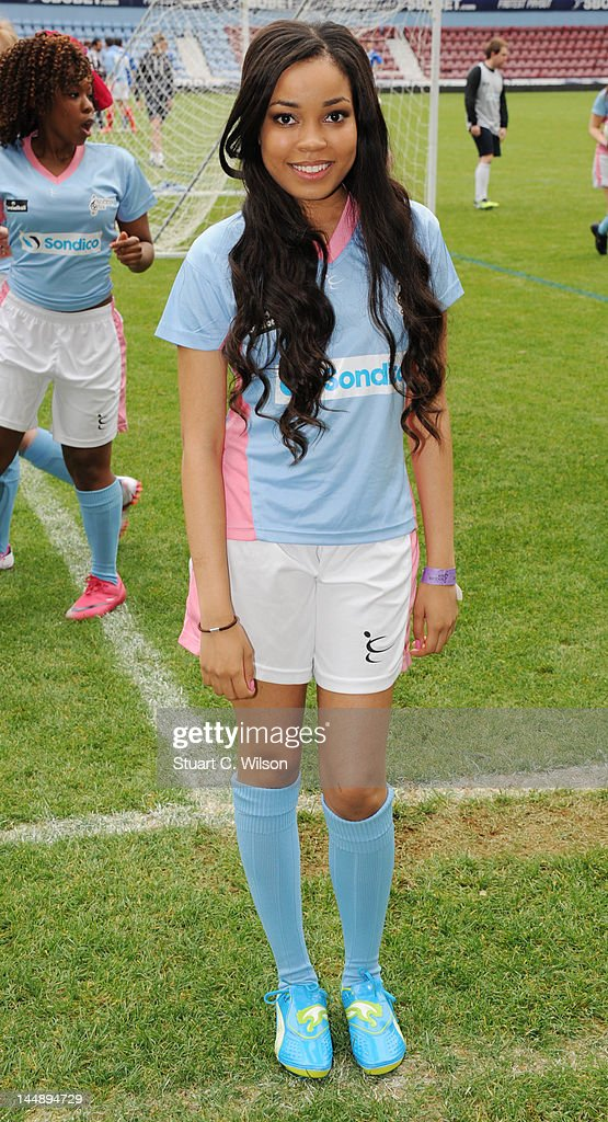 Dionne Bromfield attends the Celebrity Soccer Six 2012 Tournament at Upton Park on May 20, 2012 in London, England.