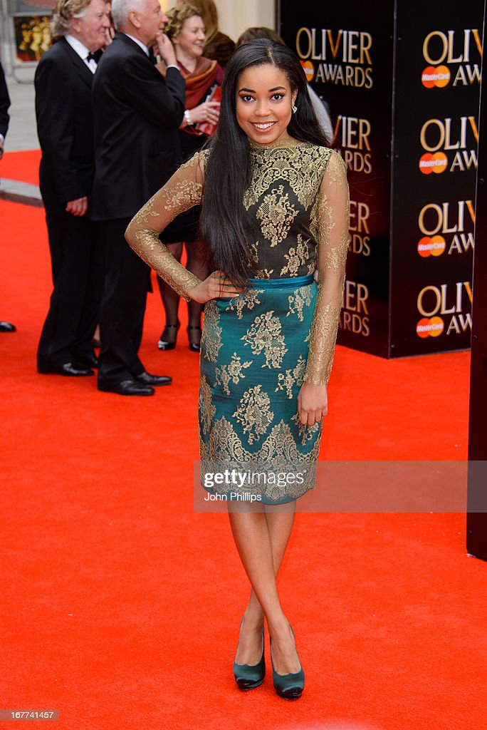 Dionne Bromfield attends The Laurence Olivier Awards at The Royal Opera House on April 28, 2013 in London, England.