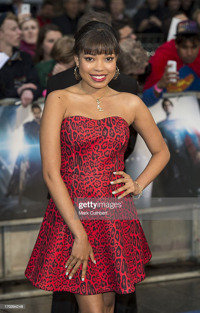 <a gi-track='captionPersonalityLinkClicked' href=/galleries/search?phrase=Dionne+Bromfield&family=editorial&specificpeople=6400392 ng-click='$event.stopPropagation()'>Dionne Bromfield</a> attends the UK Premiere of 'Man of Steel' at Odeon Leicester Square on June 12, 2013 in London, England.