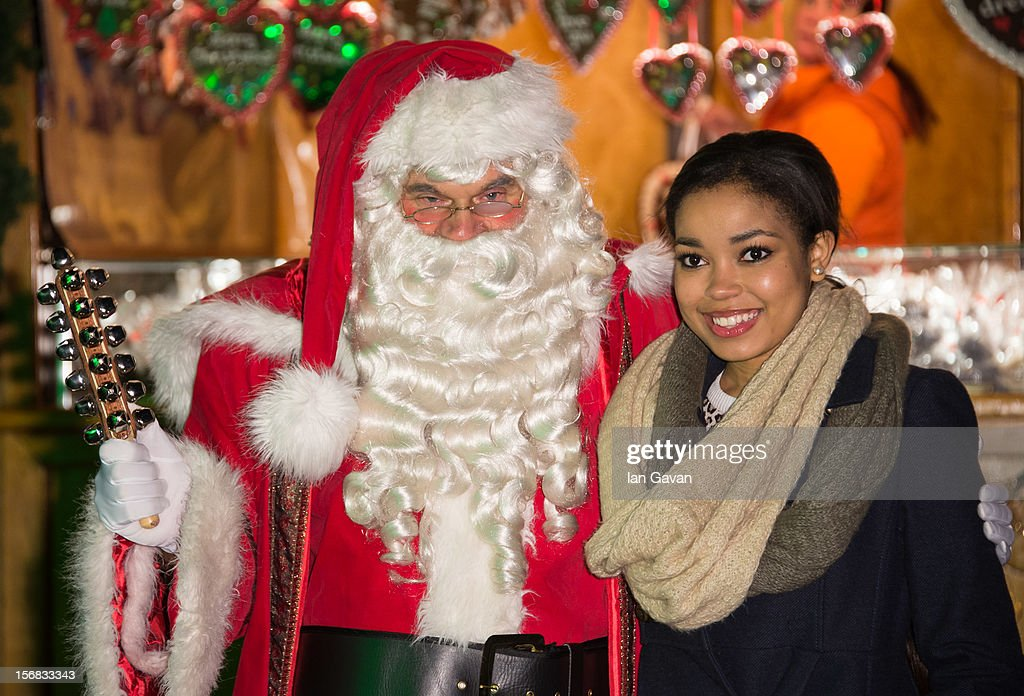 Dionne Bromfield attends the Winter Wonderland launch party at Hyde Park on November 22, 2012 in London, England.