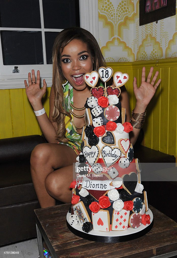 <a gi-track='captionPersonalityLinkClicked' href=/galleries/search?phrase=Dionne+Bromfield&family=editorial&specificpeople=6400392 ng-click='$event.stopPropagation()'>Dionne Bromfield</a> hosts her Birthday party at Mahiki on February 26, 2014 in London, England.