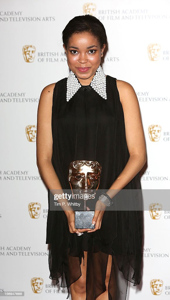 Dionne Bromfield poses for a photograph in the press room at the British Academy Children's Awards at London Hilton on November 25, 2012 in London, England.