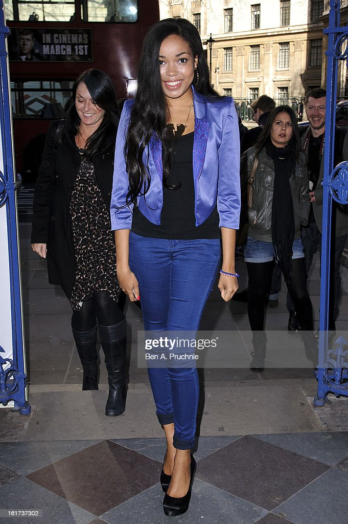 Dionne Bromfield sighted arriving at Somerset House during London Fashion Week F/W 2013 on February 15, 2013 in London, England.