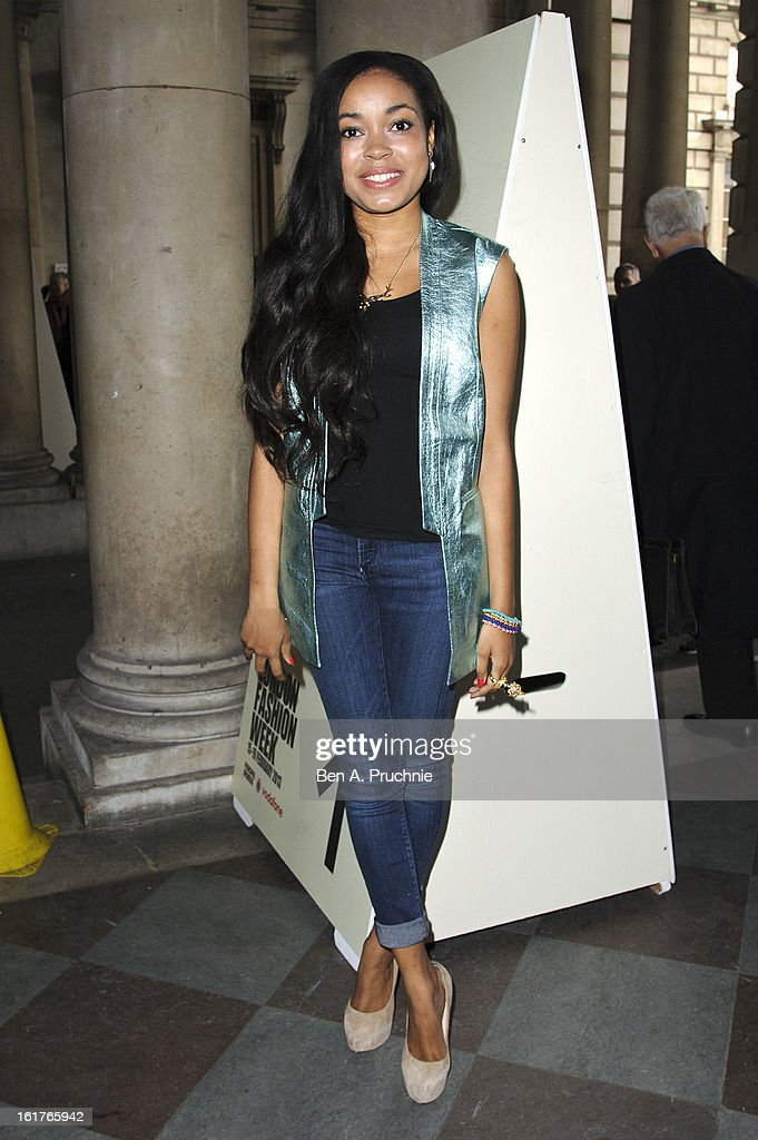 Dionne Bromfield sighted at Somerset House during London Fashion Week F/W 2013 on February 15, 2013 in London, England.