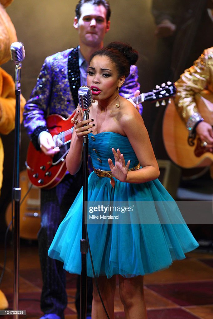 <a gi-track='captionPersonalityLinkClicked' href=/galleries/search?phrase=Dionne+Bromfield&family=editorial&specificpeople=6400392 ng-click='$event.stopPropagation()'>Dionne Bromfield</a> takes to the stage at musical Million Dollar Quartet, in aid of BBC Children in Need POP Goes the Musical at Noel Coward Theatre on September 12, 2011 in London, England.