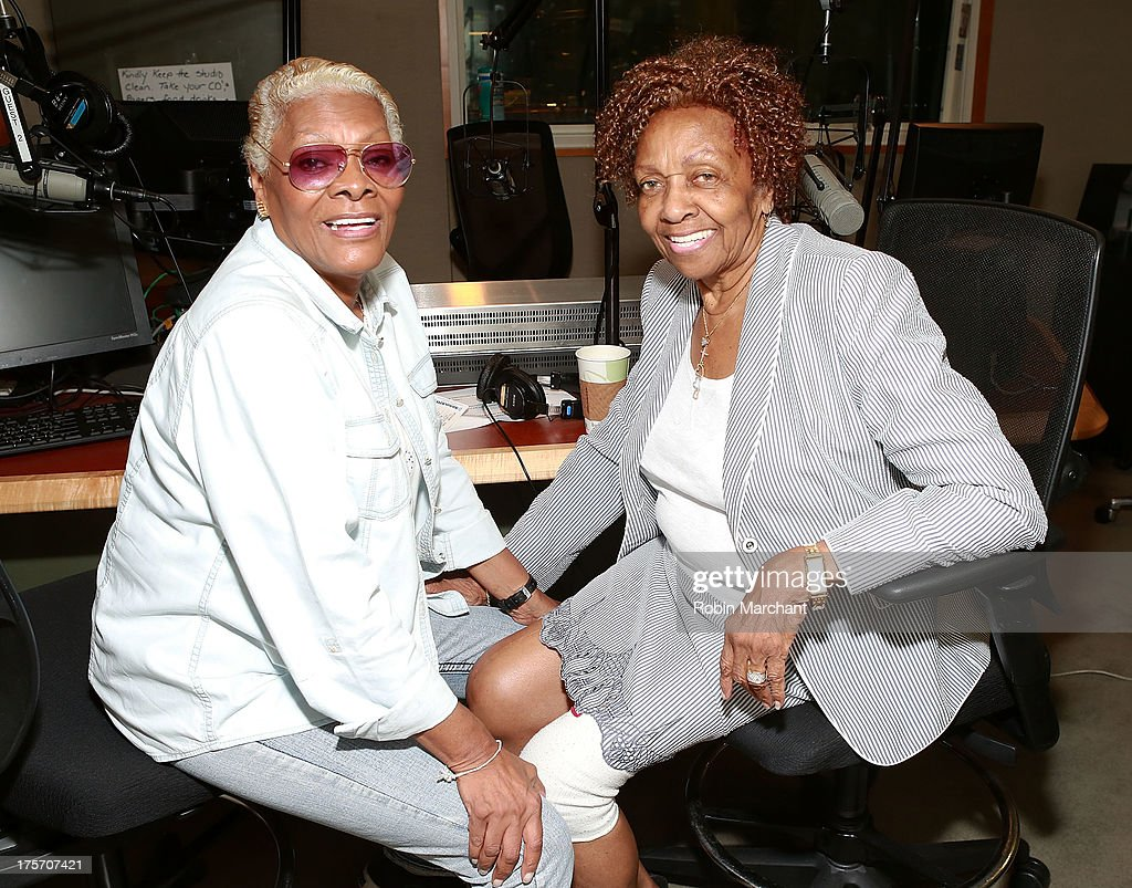 <a gi-track='captionPersonalityLinkClicked' href=/galleries/search?phrase=Dionne+Warwick&family=editorial&specificpeople=213111 ng-click='$event.stopPropagation()'>Dionne Warwick</a> (L) and <a gi-track='captionPersonalityLinkClicked' href=/galleries/search?phrase=Cissy+Houston&family=editorial&specificpeople=1019962 ng-click='$event.stopPropagation()'>Cissy Houston</a> visit at SiriusXM Studios on August 6, 2013 in New York City.
