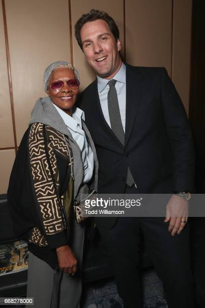 Dionne Warwick and Executive Editor at The Hollywood Reporter Matt Belloni attend The Hollywood Reporter 35 Most Powerful People In Media 2017 at The...