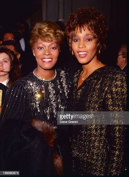Dionne Warwick and Whitney Houston Circa 1990 in Los Angeles California