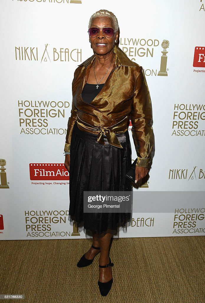 <a gi-track='captionPersonalityLinkClicked' href=/galleries/search?phrase=Dionne+Warwick&family=editorial&specificpeople=213111 ng-click='$event.stopPropagation()'>Dionne Warwick</a> attends The Hollywood Foreign Press Association Honour Filmaid International party during The 69th Annual Cannes Film Festival on May 13, 2016 in Cannes, France.