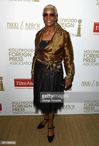 Dionne Warwick attends The Hollywood Foreign Press Association Honour Filmaid International party during The 69th Annual Cannes Film Festival on May...