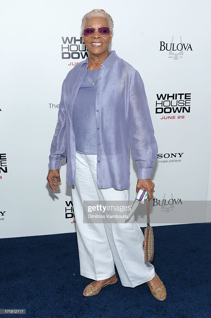 Dionne Warwick attends 'White House Down' New York premiere at Ziegfeld Theater on June 25, 2013 in New York City.
