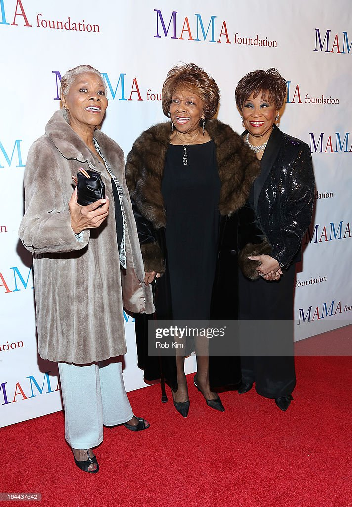 Dionne Warwick, Cissy Houston and Vy Higginsen attend 'Mama I Want To Sing' 30th Anniversary Gala Celebration at The Dempsey Theatre on March 23, 2013 in New York City.