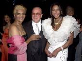 Dionne Warwick Clive Davis and Natalie Cole wearing Chopard jewelry