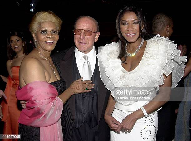 Dionne Warwick Clive Davis and Natalie Cole wearing Chopard jewelry