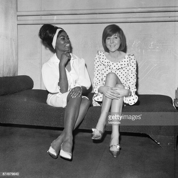 Dionne Warwick meets Cilla Black at the London Palladium Dionne recorded 'Anyone who has a heart' before Cilla Black They are pictured in Cilla's...