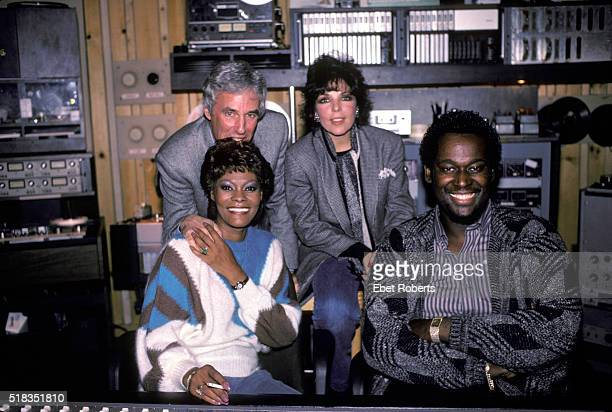 Dionne Warwick photographed at Media Sound Studios on W 57th St in New York City on October 6 1984 Pictured Burt Bacharach Dionne Carole Bayer Sager...