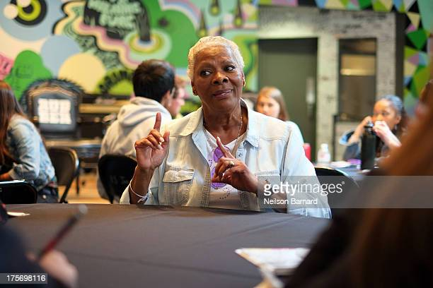 Dionne Warwick speaks to students during the 2013 GRAMMY Camp Legends Luncheon at Converse Rubber Tracks on August 6 2013 in New York City