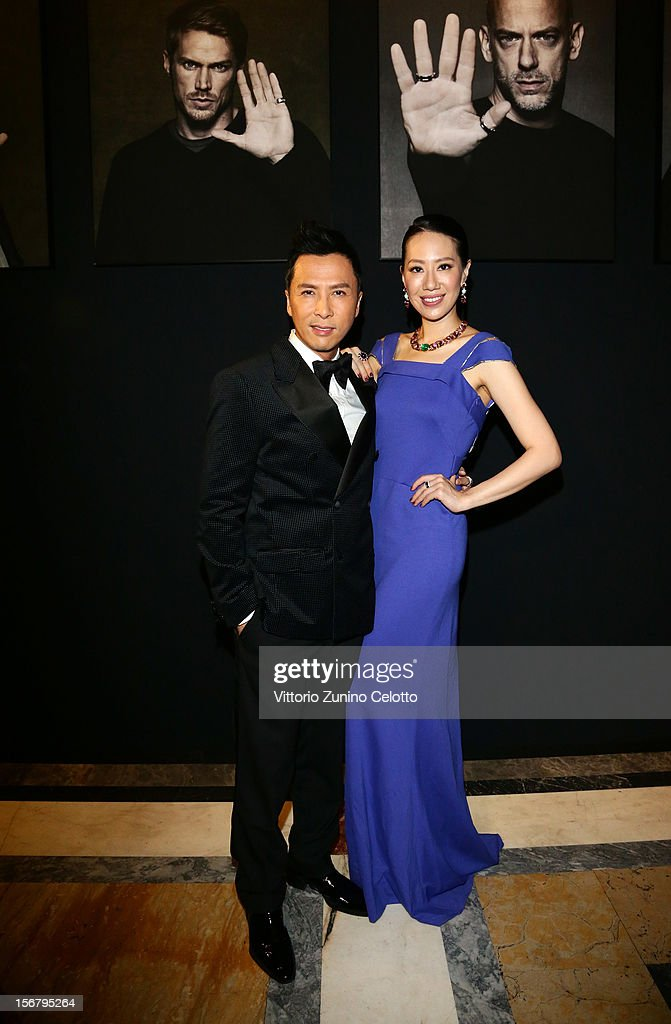 Dionnie Yen and Cecilia Wang attend the Bulgari 'Stop Think Give' exhibition preview and cocktail at Palazzo Pecci Blunt on November 15, 2012 in Rome, Italy.