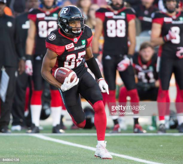 Diontae Spencer of the Ottawa Redblacks in Canadian Football League Action at TD Place Stadium in Ottawa Canada on Saturday September 9 2017 The...