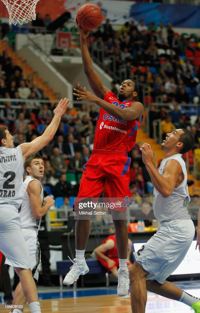 <a gi-track='captionPersonalityLinkClicked' href=/galleries/search?phrase=Dionte+Christmas&family=editorial&specificpeople=4091611 ng-click='$event.stopPropagation()'>Dionte Christmas</a>, 21 of CSKA Moscow in action during the 2012-2013 Turkish Airlines Euroleague Regular Season Game Day 7 between CSKA Moscow v Partizan mt:s Belgrade at Megasport Sports Palace on November 22, 2012 in Moscow, Russia.