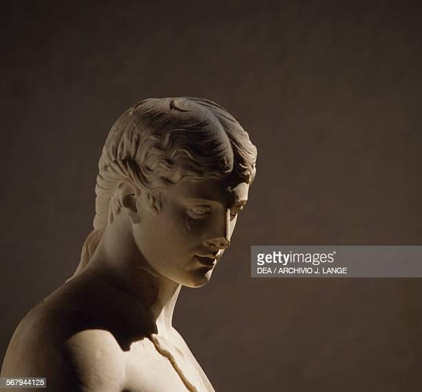 Dionysus Hadrianera marble sculpture detail Roman civilisation 2nd century AD Roma Museo Nazionale Romano Palazzo Massimo Alle Terme