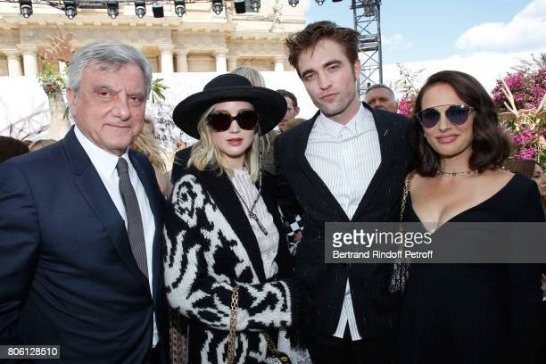 Dior CEO Sidney Toledano actors Jennifer Lawrence Robert Pattinson and Natalie Portman attends the Christian Dior Haute Couture Fall/Winter 20172018...