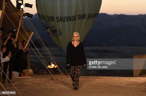 Dior designer Maria Grazia Chiuri walks the runway for the first cruise collection by Maria Grazia Chiuri for Dior show in the Upper Las Virgenes...