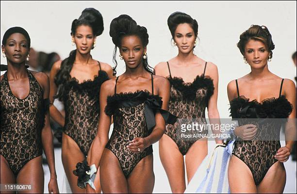 Dior Haute Couture Fall Winter 9293 show in France in October 1992 Beverly Helena Christensen Roshumba