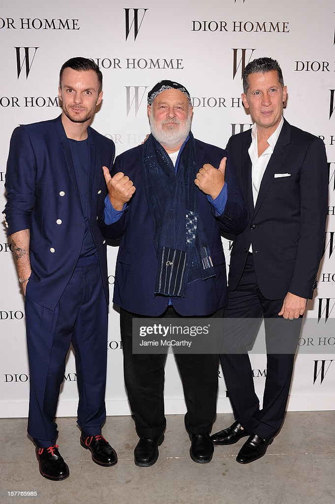 Dior Homme Creative Director Kris Van Assche, Bruce Weber and Stefano Tonchi attend the World Premiere of Bruce Weber's Film 'CAN I MAKE THE MUSIC FLY' hosted by DIOR Homme's Kris Van Assche, Bruce Weber, & W Magazine's Stefano Tonchi in Celebration of The New Dior Homme Miami Boutique at The Moore Building on December 5, 2012 in Miami, Florida.