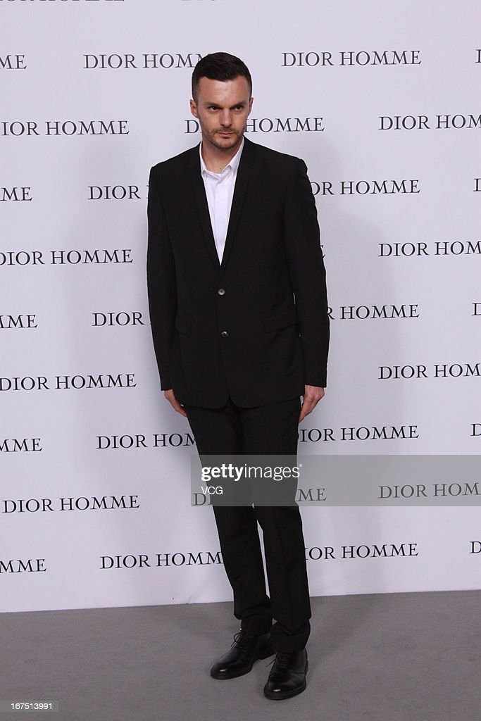 Dior Homme creative director Mr.Kris Van Assche attends the Dior Homme F/W 2013 Menswear Collection Show on April 25, 2013 in Beijing, China.