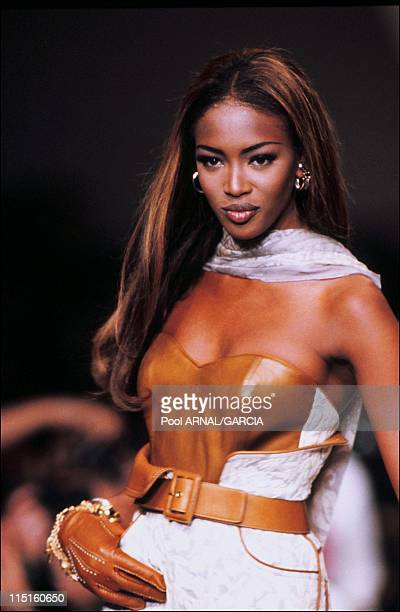 Dior Ready to Wear Spring Summer 92 show in France on October 21 1991 Naomie Campbell