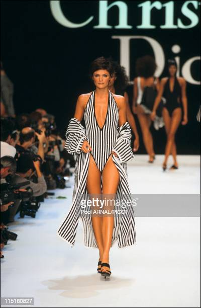 Dior ready to wear Spring Summer 97 in France in October 1996 Helena Christensen