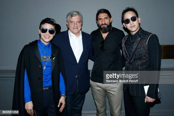 Dior Sidney Toledano Actor Numan Acar and guests attend the Dior Homme Menswear Spring/Summer 2018 show as part of Paris Fashion Week on June 24 2017...