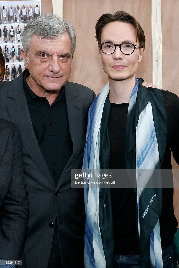 CEO Dior Sidney Toledano and Fashion designer Maxime Simoens after Maxime Simoens show as part of the Paris Fashion Week Womenswear Spring/Summer 2014, held at Orangerie du parc Andre Citroen on September 29, 2013 in Paris, France.
