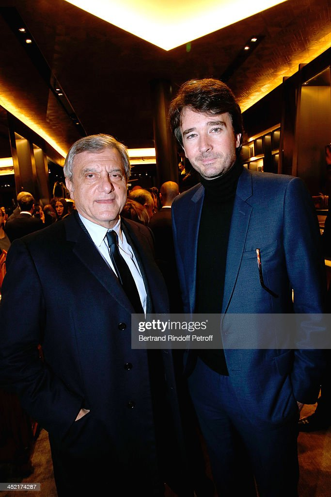 CEO Dior <a gi-track='captionPersonalityLinkClicked' href=/galleries/search?phrase=Sidney+Toledano&family=editorial&specificpeople=758670 ng-click='$event.stopPropagation()'>Sidney Toledano</a> and General manager of Berluti <a gi-track='captionPersonalityLinkClicked' href=/galleries/search?phrase=Antoine+Arnault&family=editorial&specificpeople=676045 ng-click='$event.stopPropagation()'>Antoine Arnault</a> attend Berluti Flagship Store Opening on November 26, 2013 in Paris, France.