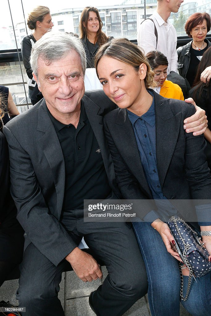 Dior Sidney Toledano and his daughter Julia Toledano attend Maxime Simoens show as part of the Paris Fashion Week Womenswear Spring/Summer 2014, held at Orangerie du parc Andre Citroen on September 29, 2013 in Paris, France.