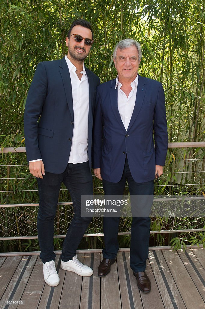 Dior Sidney Toledano (R) and his son Alan attend the Men Final of 2015 Roland Garros French Tennis Open - Day Fithteen, on June 7, 2015 in Paris, France