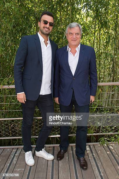 Dior Sidney Toledano and his son Alan attend the Men Final of 2015 Roland Garros French Tennis Open Day Fithteen on June 7 2015 in Paris France