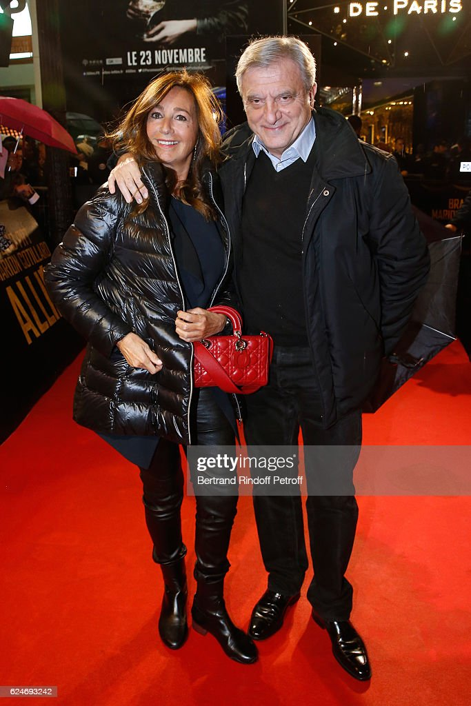 Dior Sidney Toledano and his wife Katia attend the 'Allied - Allies'- Paris Premiere at Cinema UGC Normandie on November 20, 2016 in Paris, France.