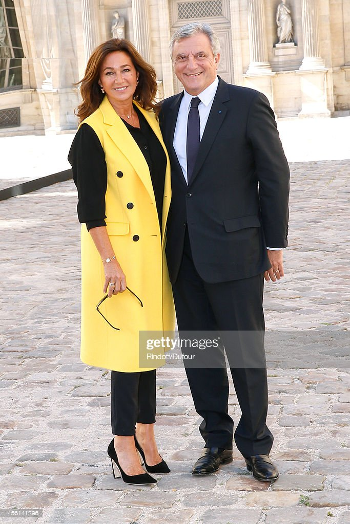 Dior Sidney Toledano and his wife Katia attend the Christian Dior show as part of the Paris Fashion Week Womenswear Spring/Summer 2015 on September 26, 2014 in Paris, France.