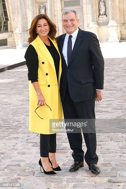 Dior Sidney Toledano and his wife Katia attend the Christian Dior show as part of the Paris Fashion Week Womenswear Spring/Summer 2015 on September...